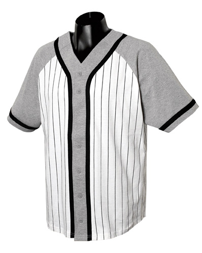 a20d24b4 Contrasting Raglan-Sleeve Button-Front Baseball Jersey with Braid ...